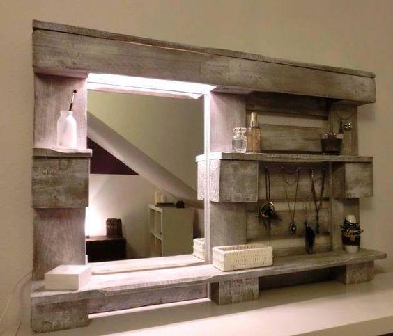 specchio fai da te originale con materiale riciclato! 20 idee ... - Idee Specchio Bagno
