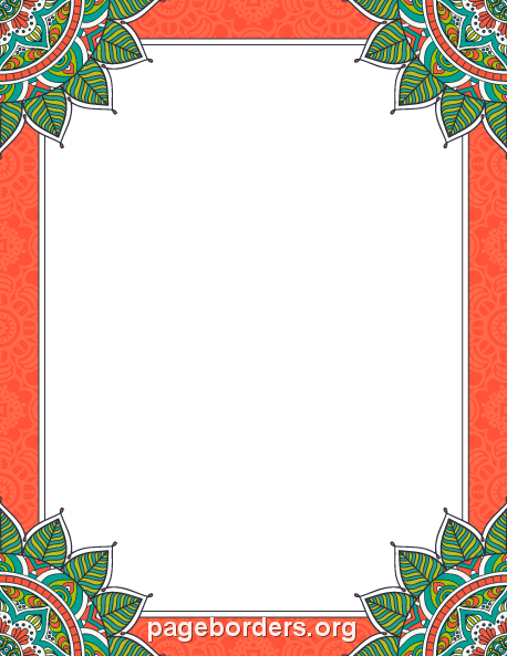 Printable mandala border Use the border in Microsoft Word or – Degrees in Microsoft Word