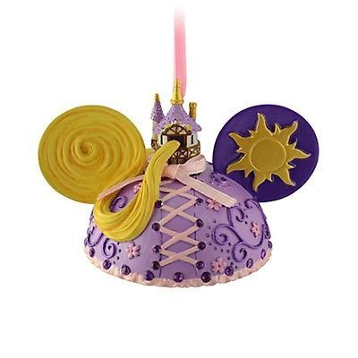 disney parks christmas tangled princess rapunzel ear hat ornament new with tag