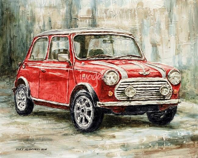 """Mini Cooper S "" by Joey Agbayani: The Mini Classic Cooper S 2000. // Buy prints, posters, canvas and framed wall art directly from thousands of independent working artists at Imagekind.com."