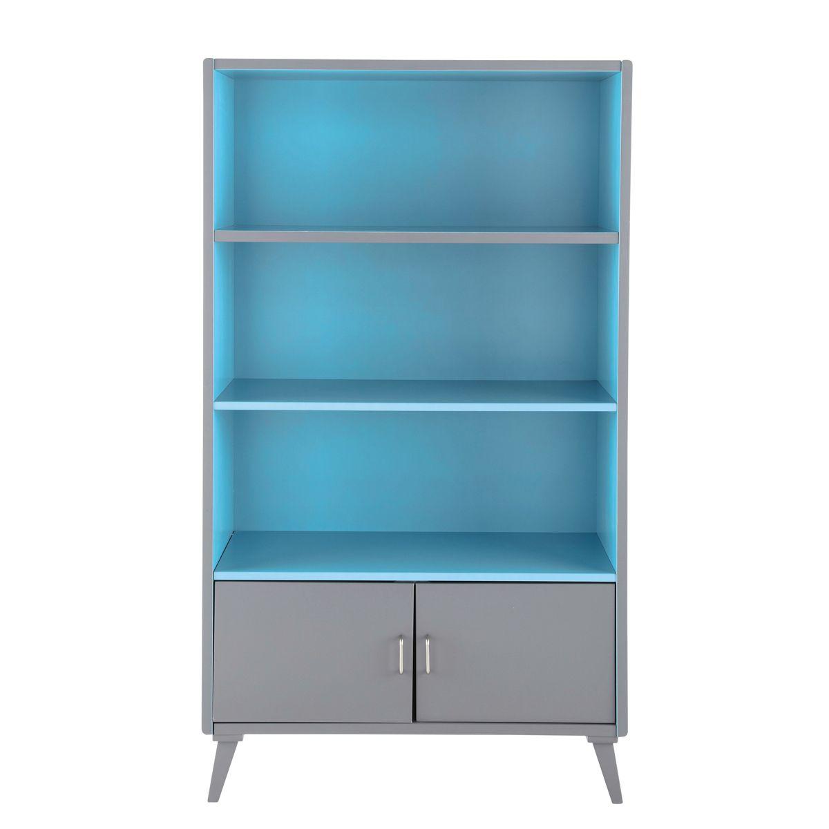 Kinder-Bücherregal im Vintage-Look grau-blau THEO   Möbel ...