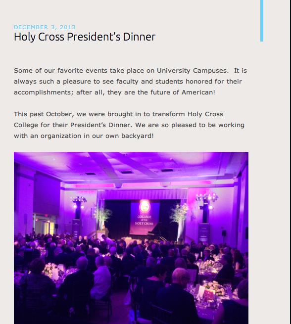 Holy Cross President's Dinner!