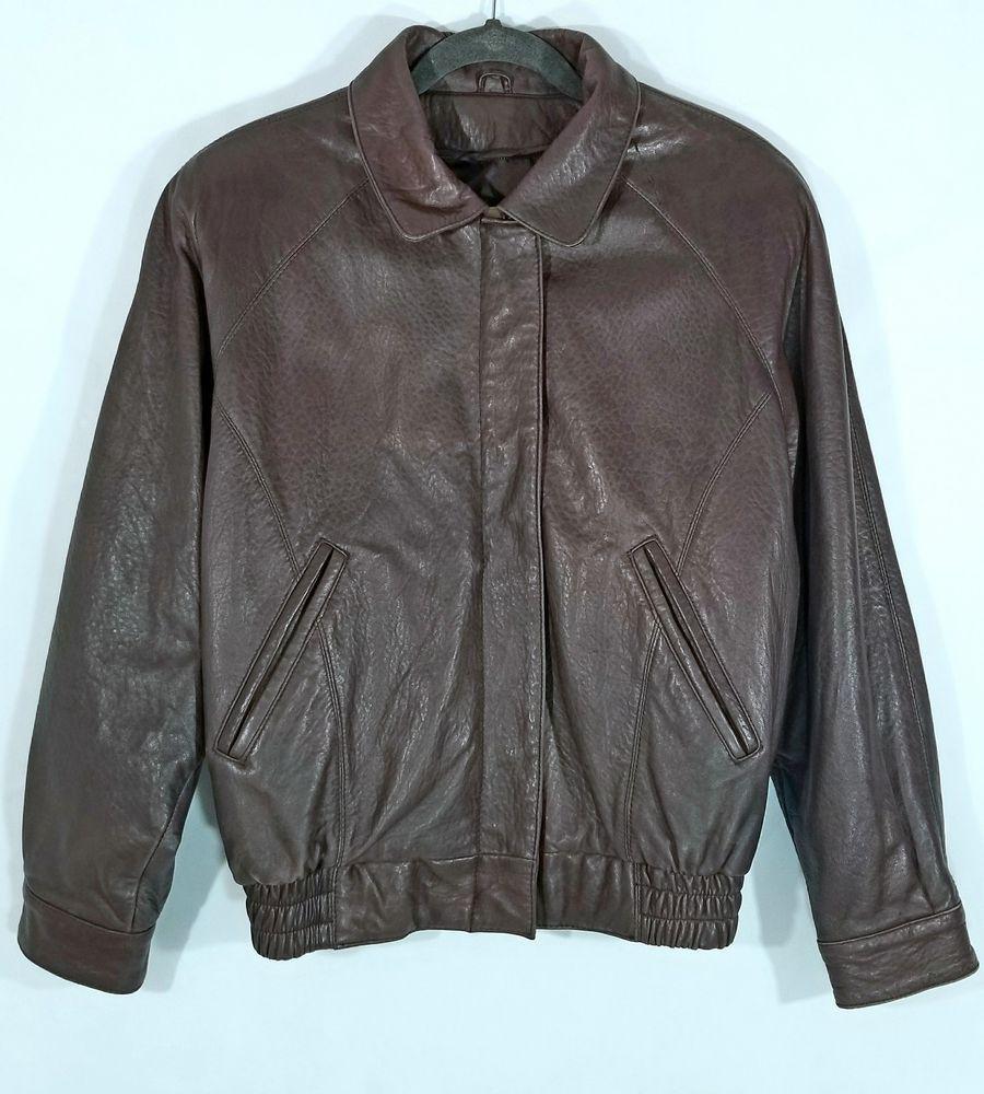 Vintage Men\u2019s Brown Georgetown Leather Jacket