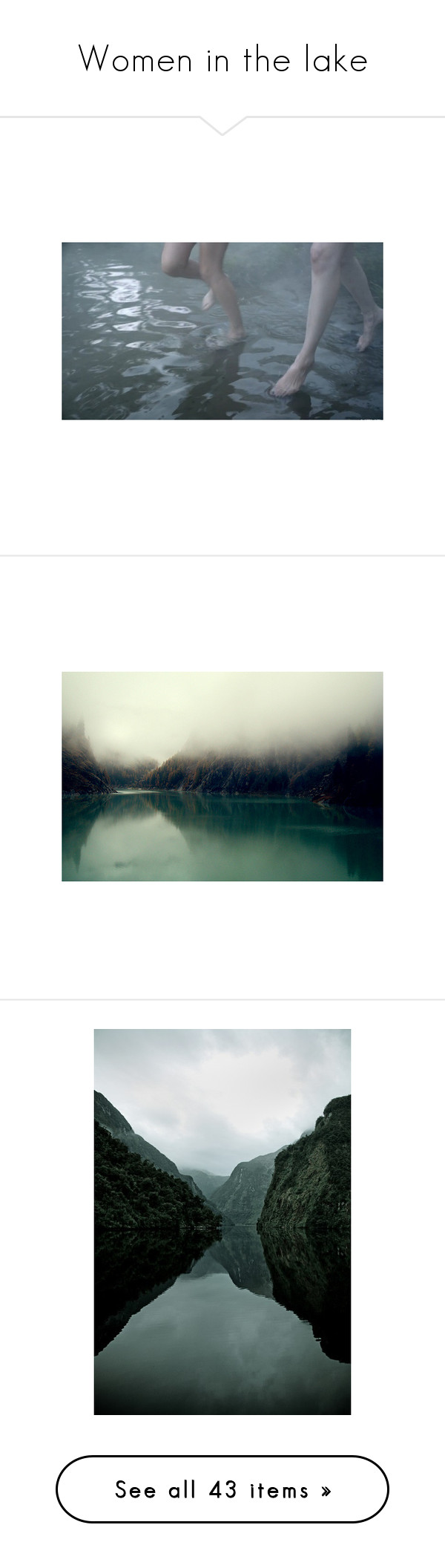 """""""Women in the lake"""" by lindseyrose4 ❤ liked on Polyvore featuring ocean, witch, Waterfall, lake, river, pictures, photos, backgrounds, blue and images"""