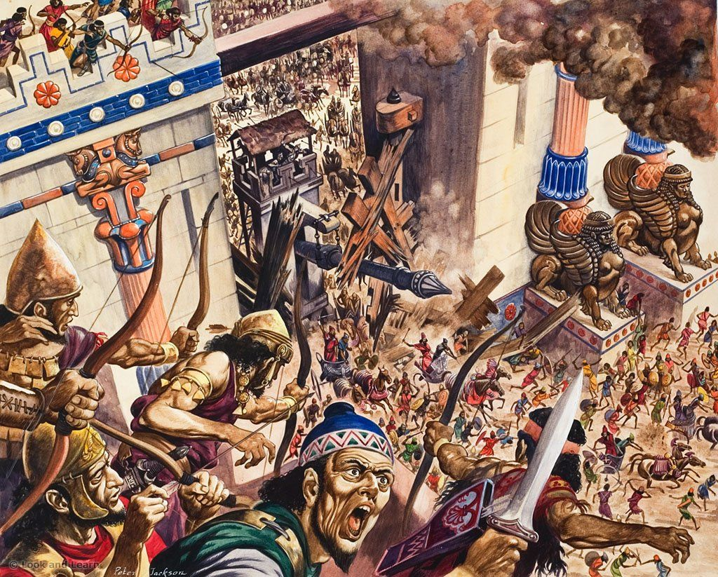 capture of Jerusalem by Nebuchadnezzar II's troops in 587 BC
