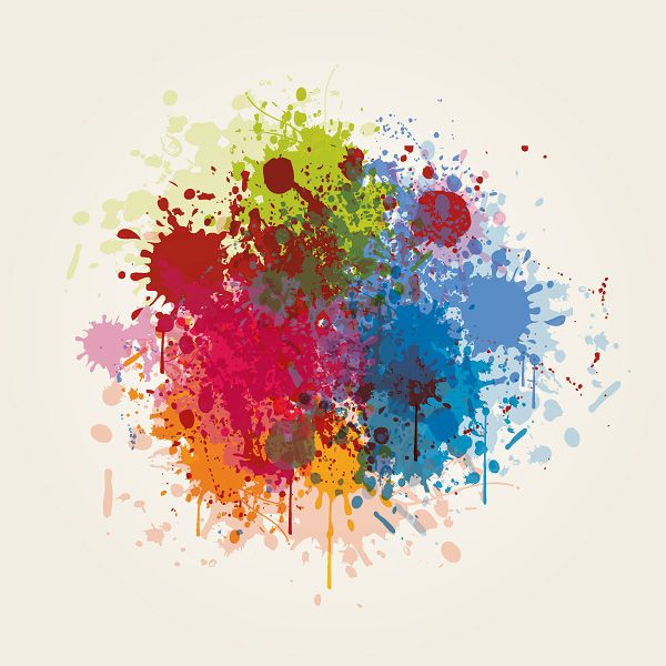 Splashed Colors Vector Graphic Color Vector Watercolor Splash