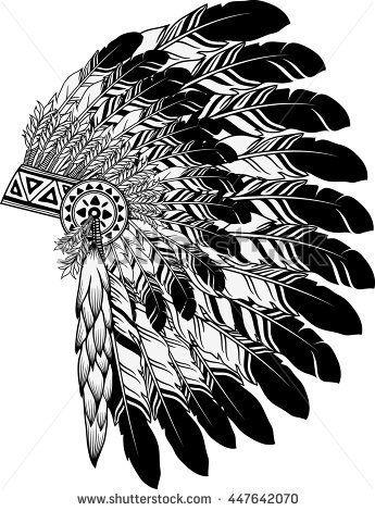 Stock Vector Native American Indian Chief Headdress 447642070 Jpg