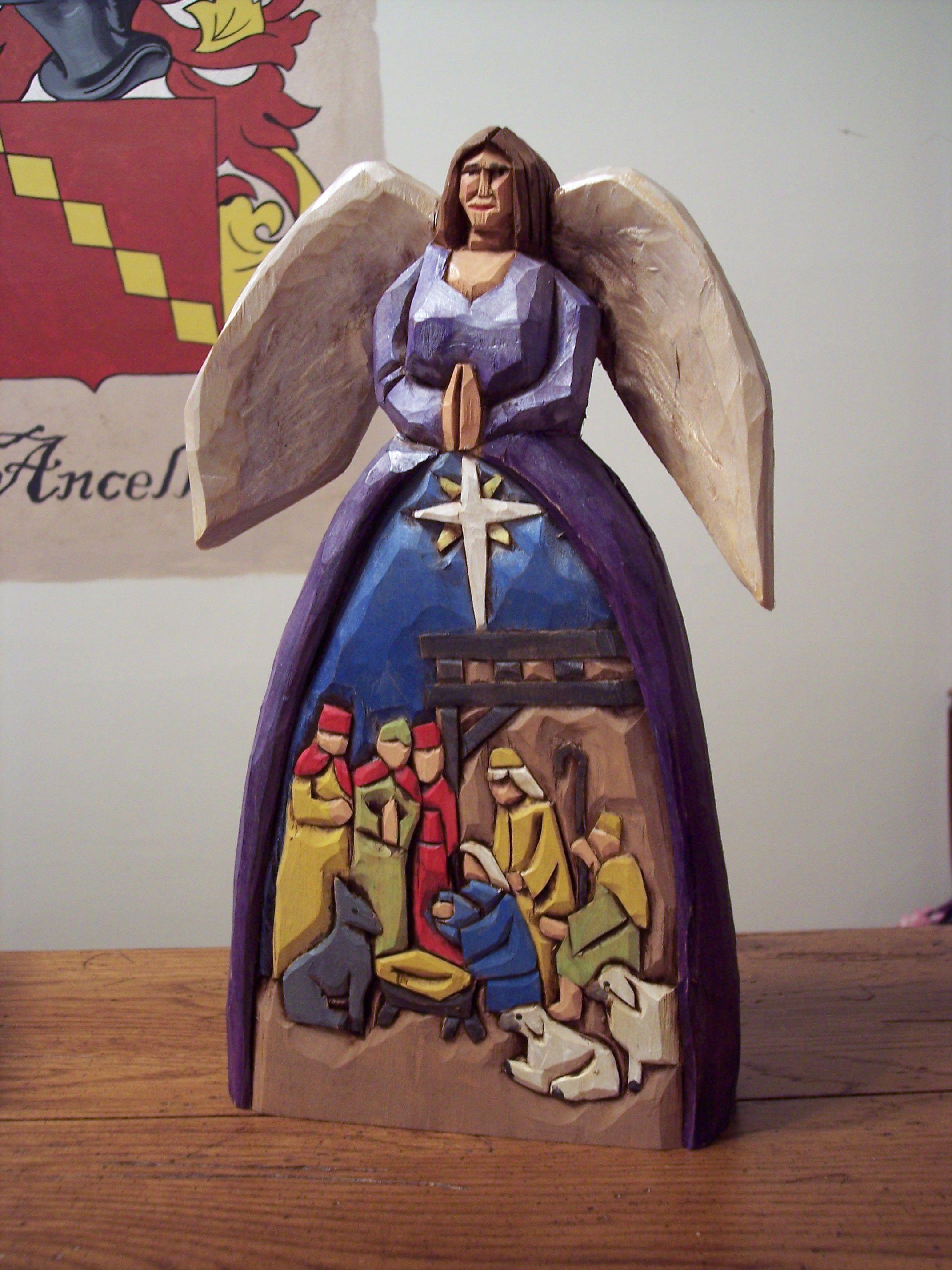 Carving Angels Ornament