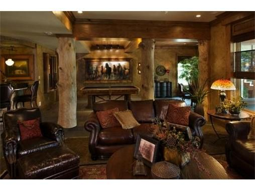 awesome western themed basement finish in kansas city western