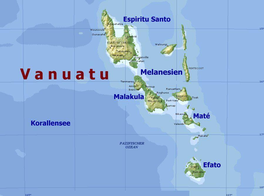 Vanuatu Map Google Search Vanuatu Island Nations Map