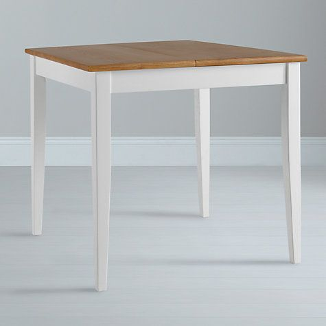 John Lewis La 4 Seater Square Extending Dining Table White Oak Online At