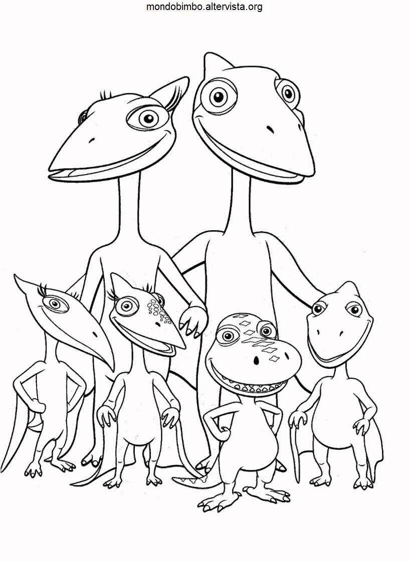 Treno Dei Dinosauri Da Colorare.Pin Su Centro Estivo
