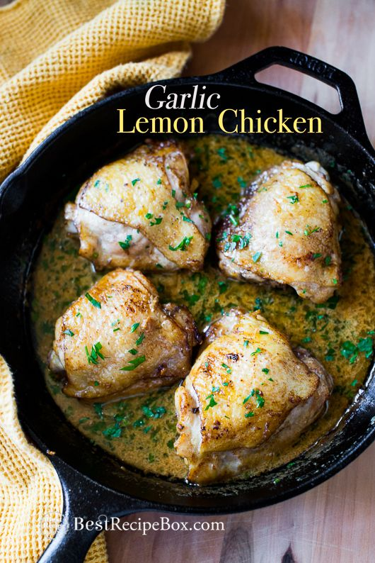 Photo of Baked Garlic Chicken Thighs in Lemon Sauce