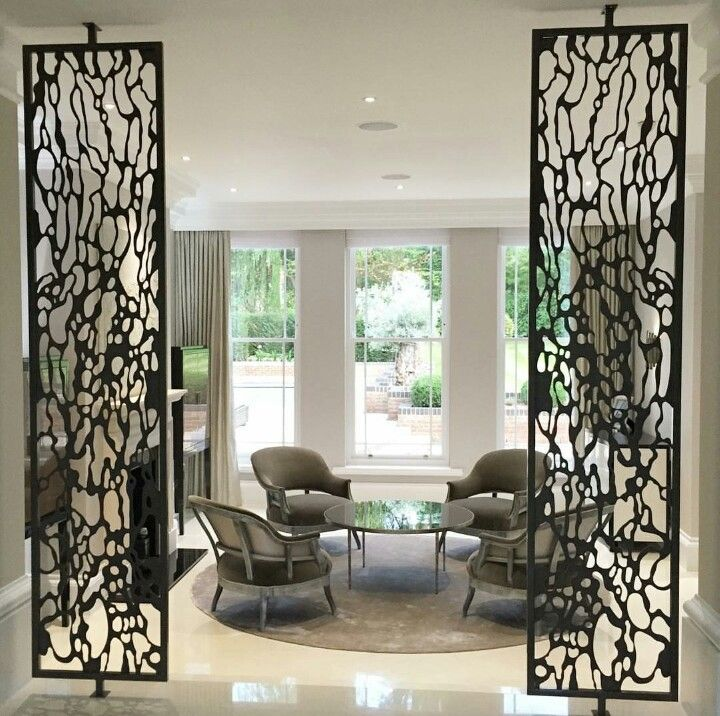 wall separators entrance living room designs living room rh pinterest com