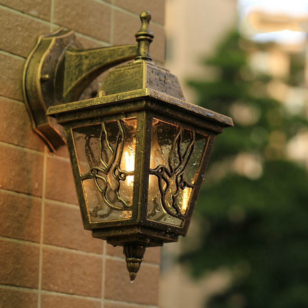 European Wall Lamp Outdoor Balcony Garden Light Garden Wall Light