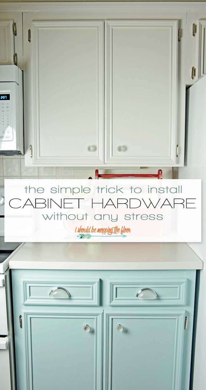 The Simple Trick To Install Cabinet Hardware Without Stress