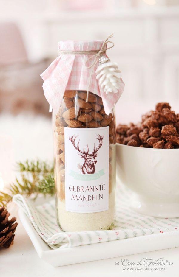 gebrannte mandeln mix in der flasche rezept geschenke pinterest geschenke weihnachten. Black Bedroom Furniture Sets. Home Design Ideas