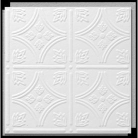 Armstrong 12 In X 12 In Tin Look Tintile Homestyle Ceiling Tile Panel Ceiling Tiles Acoustic Ceiling Tiles Armstrong Ceiling