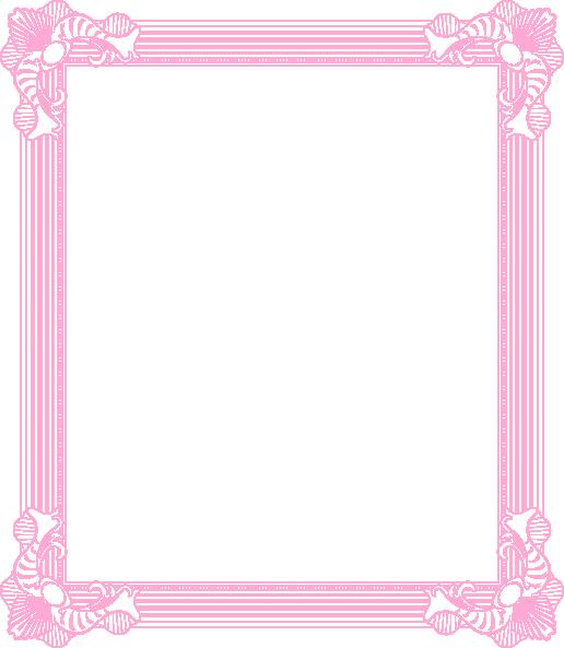 pink frame | Frame Pink clip art - vector clip art online, royalty ...