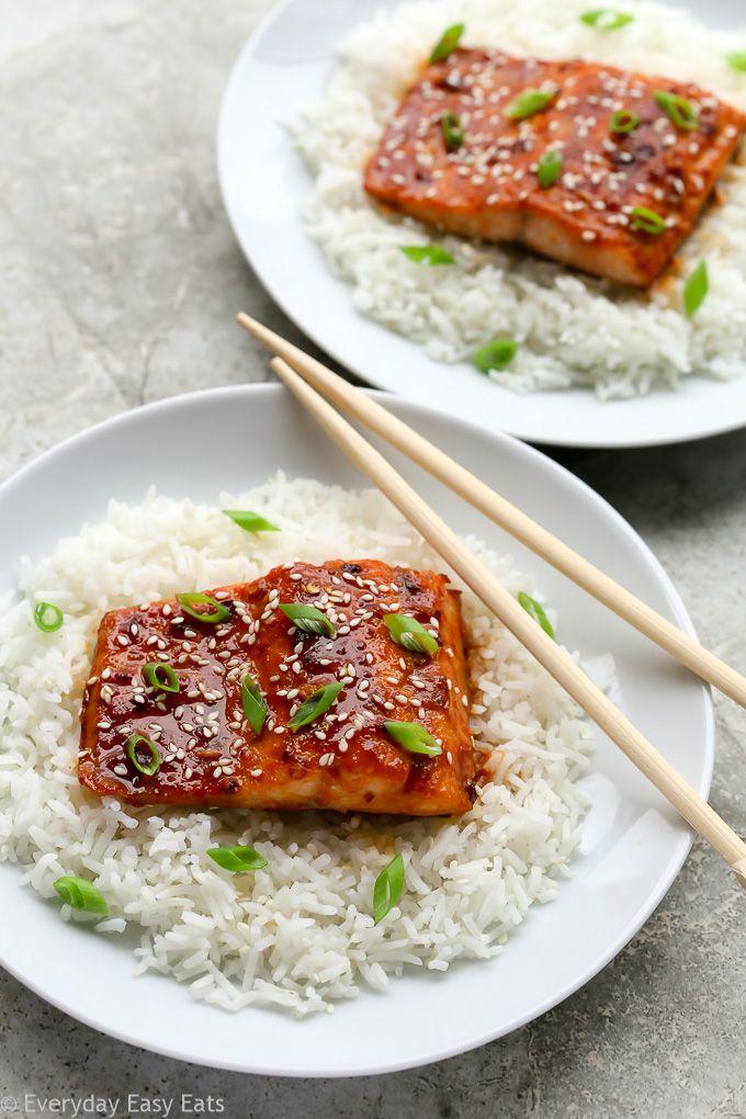 Honey Sriracha Salmon #salmonrecipes
