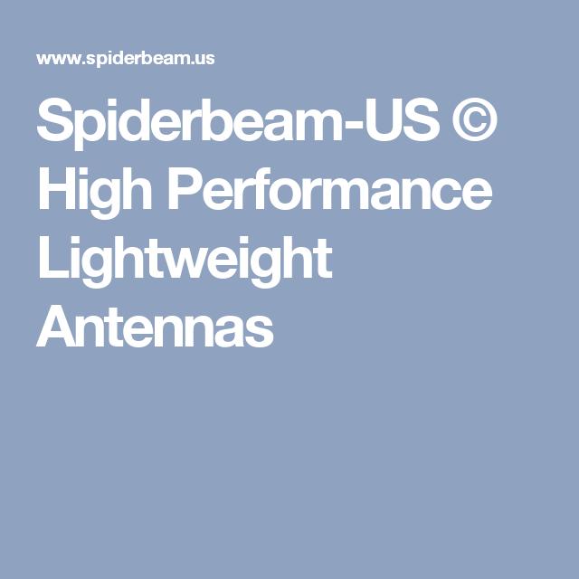Spiderbeam-US © High Performance Lightweight Antennas