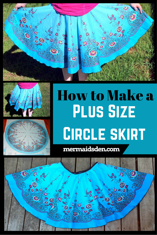 1dd58b3d81 Aug 25 How to Make a Plus Size Circle Skirt | The Mermaid's Den | Sewing  clothes women, Plus size sewing patterns, Sewing patterns