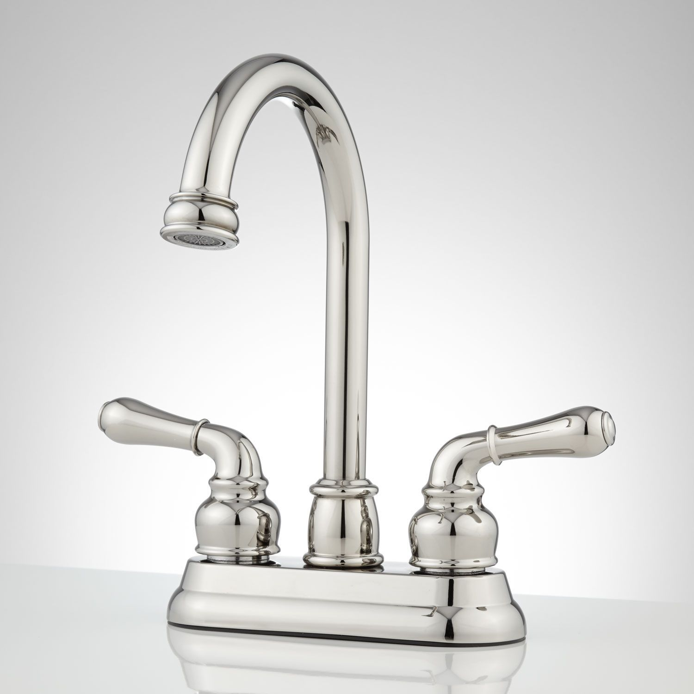 Brannigan Centerset Gooseneck Bathroom Faucet - Overflow - Chrome ...
