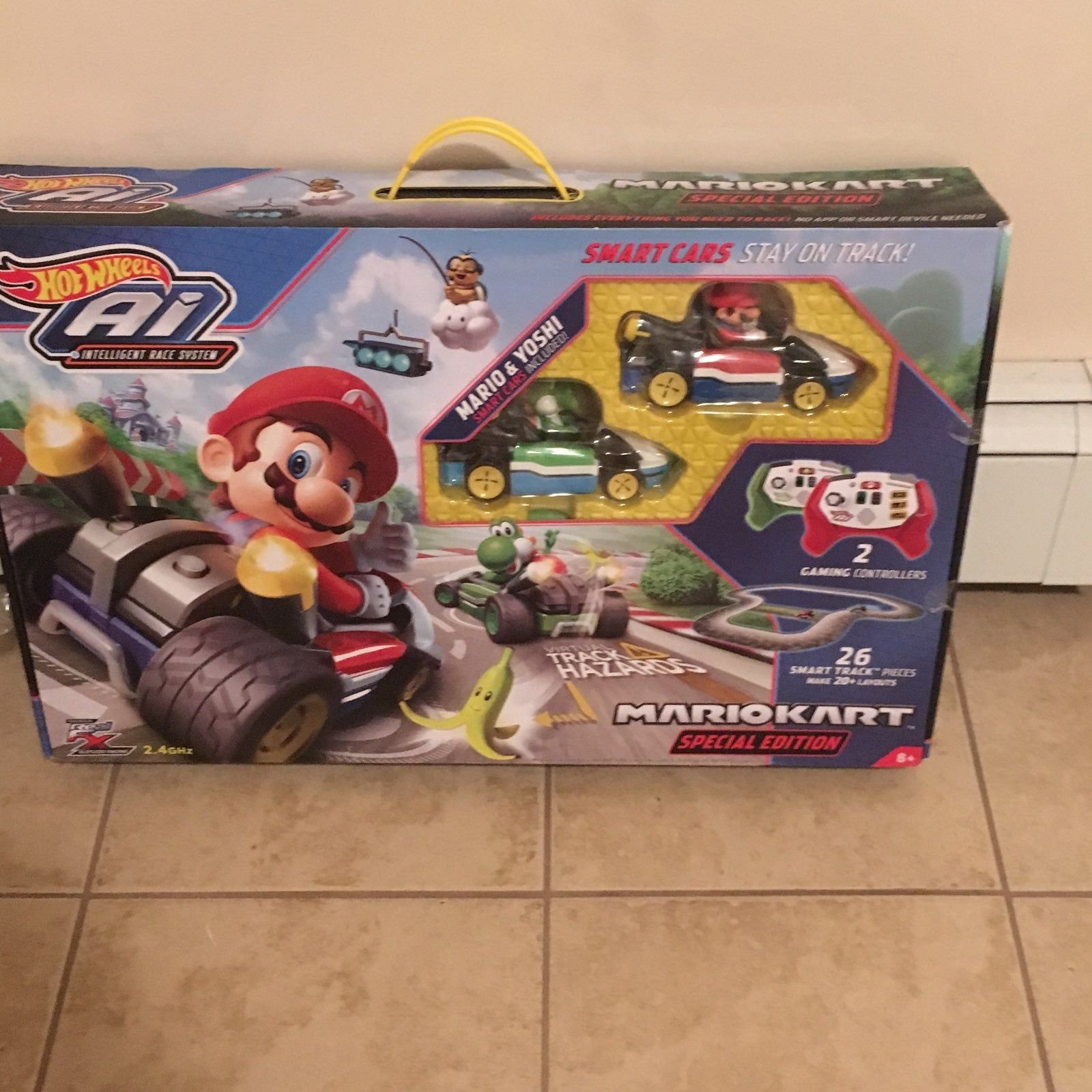 New in box, Hard to find Hot Wheels Mario Kart special