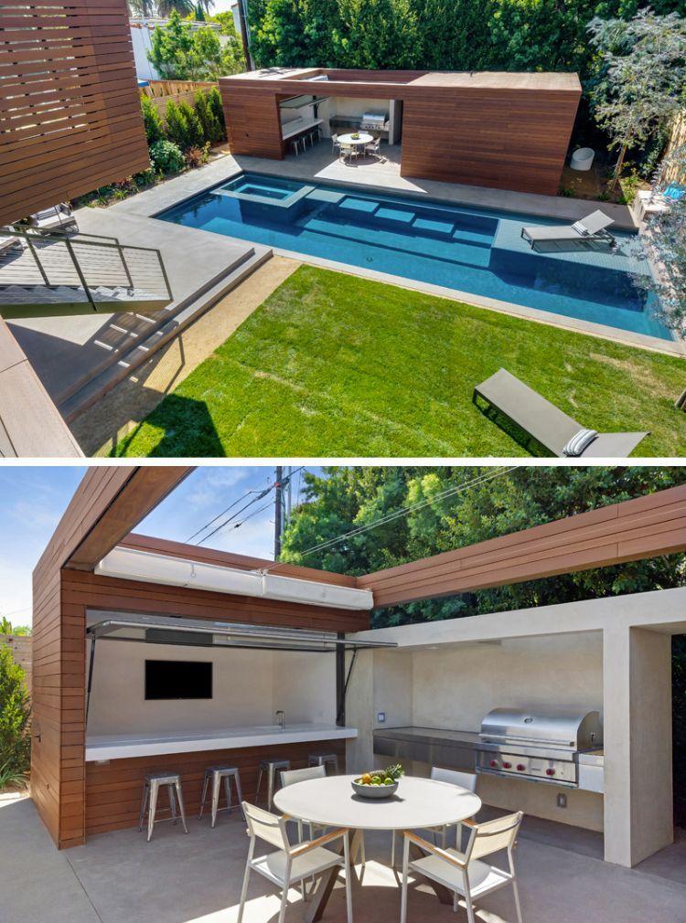 poolhaus mit grillplatz und oberlicht pool area pinterest garten garten k che und poolhaus. Black Bedroom Furniture Sets. Home Design Ideas
