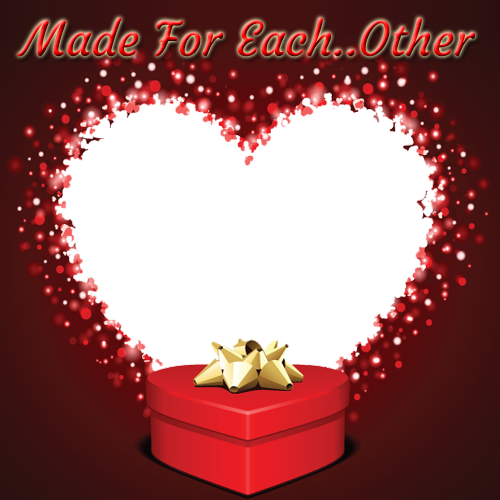 Create Made For Each Other Heart Photo Frame Online For Valentines