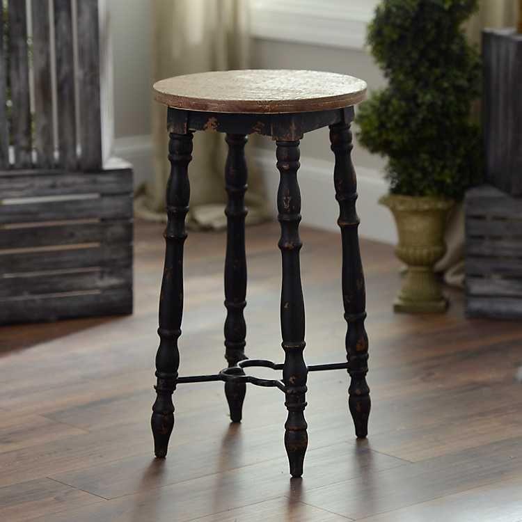 Distressed black cottage spindle bar stool in 2020 bar