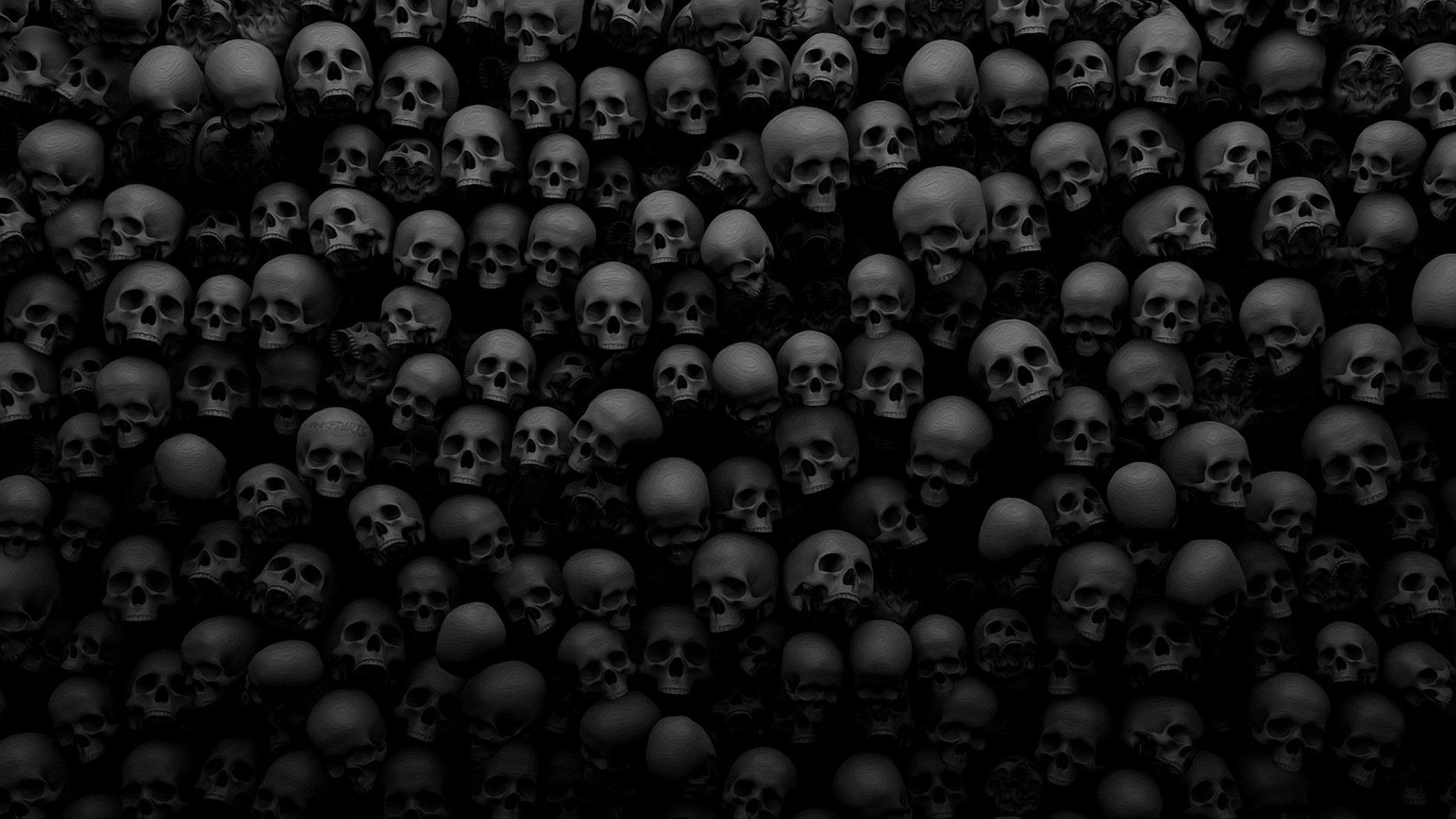 Dark Evil Horror Spooky Creepy Scary Wallpaper 2560x1440 Scary Wallpaper Black Skulls Wallpaper Skull Wallpaper