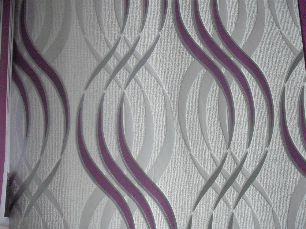 Well-known Luxury Designer Wallpaper (Purple/White/Silver Swirl) | Pinterest  SD04