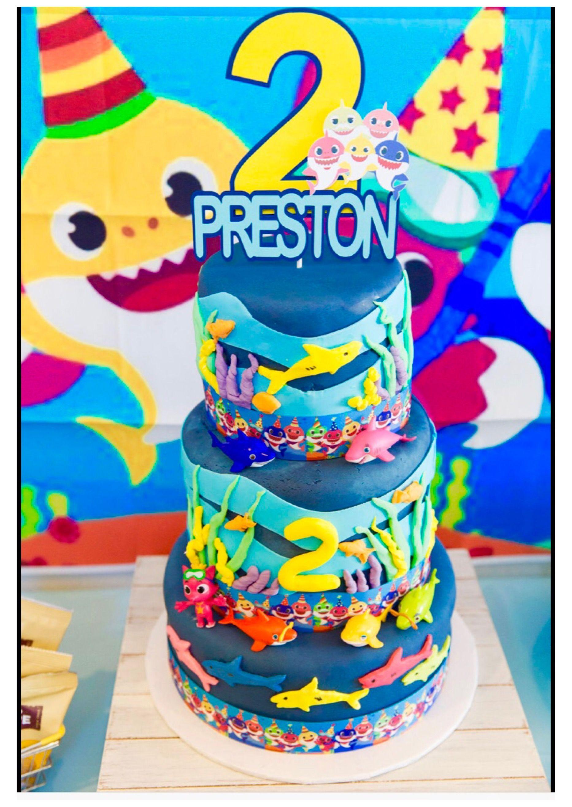 Baby shark birthday cake shark birthday cakes birthday