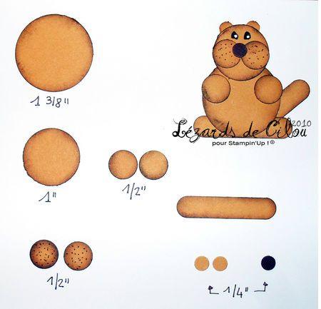 La marmotte en punch l zards de cilou scrapbooking - Dessiner une marmotte ...