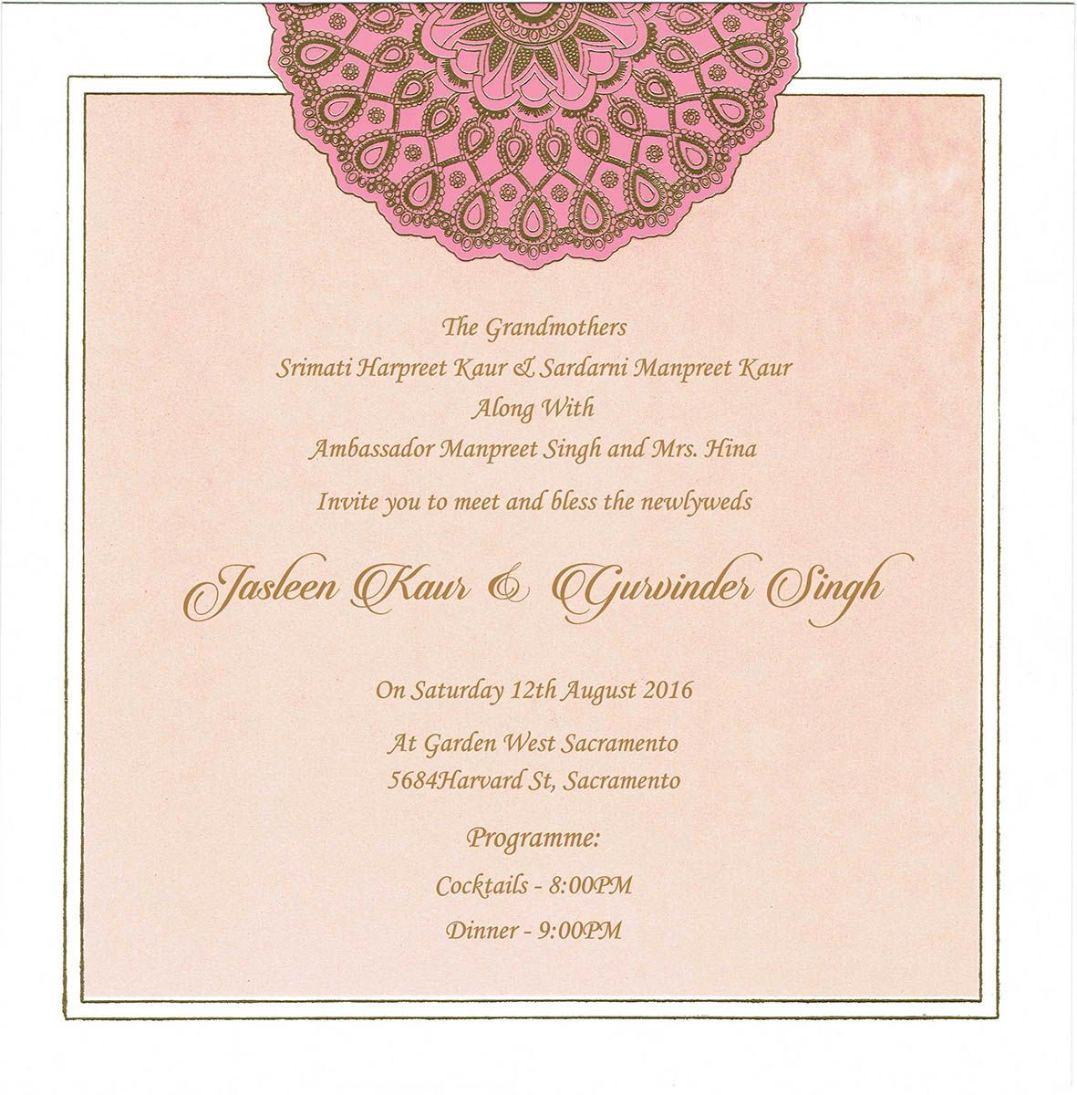 Wedding Invitation Wording For Reception Ceremony Reception