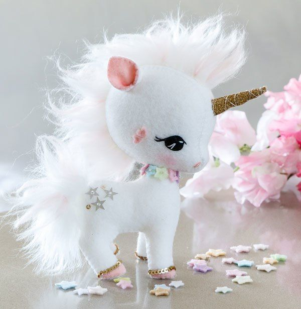 Unicornio de fieltro con moldes Related Post Patrones para crear ...
