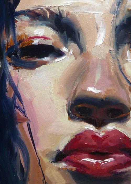"""Steam"" (close-up of female), John Larriva art"