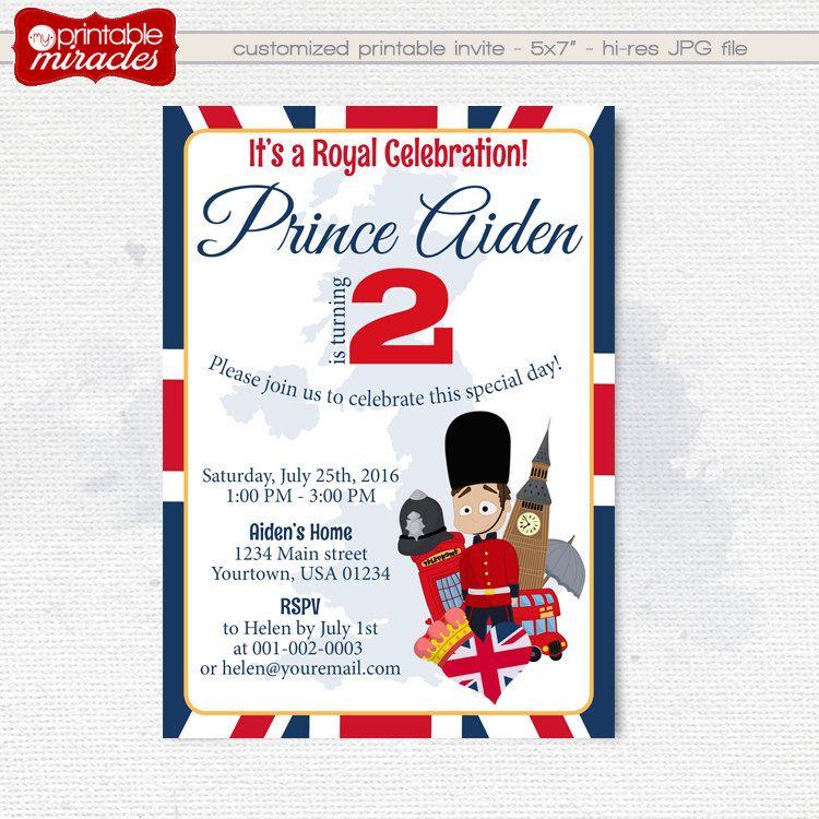 MyPrintableMiracles: London Birthday Invitation Printable Royal ...