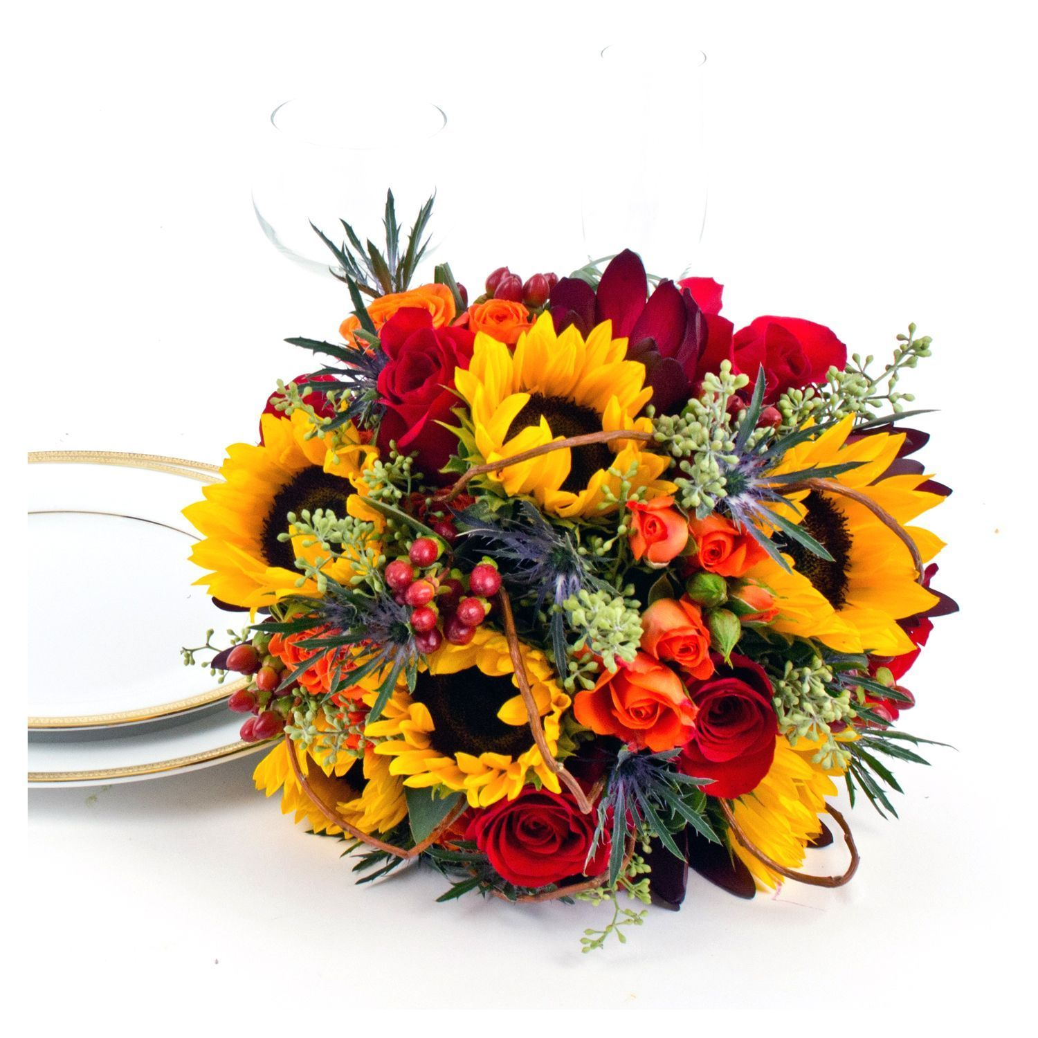 Planning Our Big Day Centerpieces And Wedding Colors: Sunflower Wedding Collection
