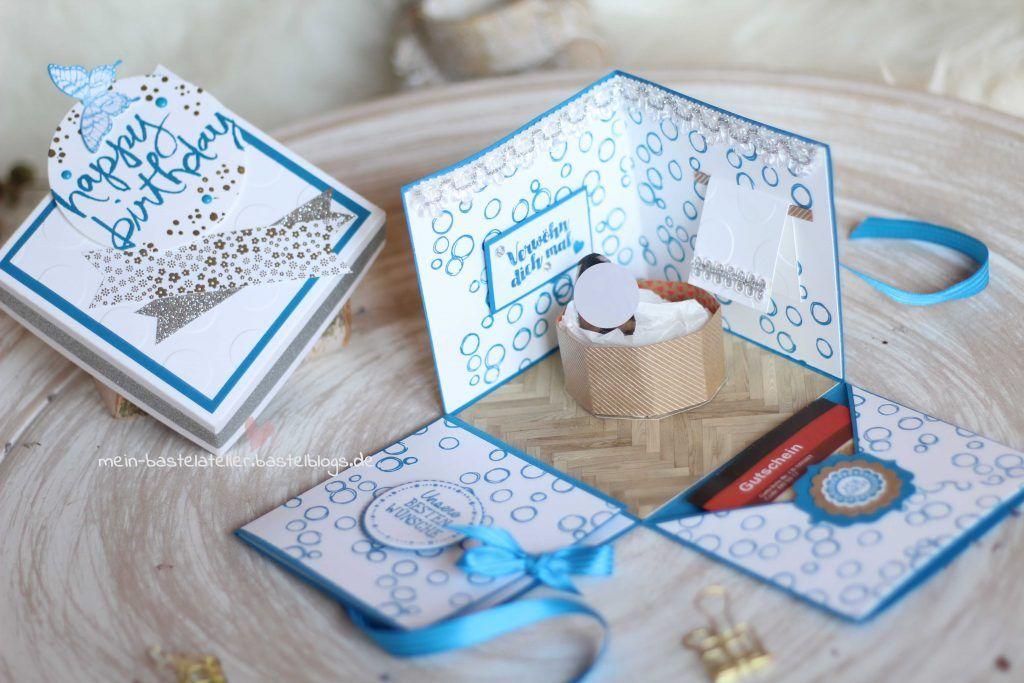 explosionsbox zum geburtstag wellness gutschein im whirlpool basteln pinterest geschenke. Black Bedroom Furniture Sets. Home Design Ideas