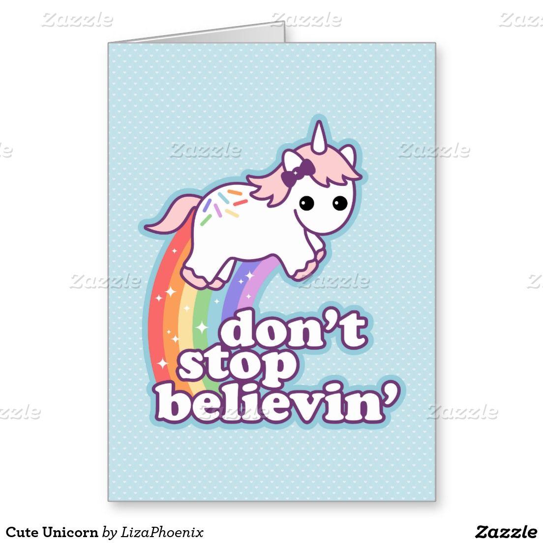 Cute Unicorn Greeting Card Unicorn Stuff Pinterest Unicorns