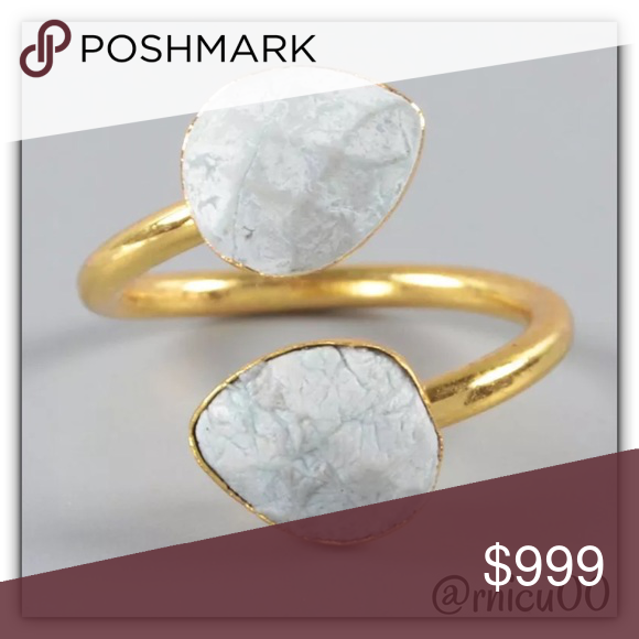 Coming Soon- Natural Howlite Stone 18K Gold Ring! Details Soon! More pics on arrival!  *NO TRADES *Prices are FIRM-Listed at Lowest Price Unless BUNDLED! *Sales are Final-Please Read Descriptions! Boutique Jewelry Rings