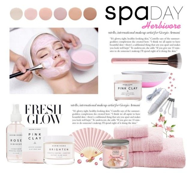 """""""Spa Day @ Herbivore"""" by conch-lady ❤ liked on Polyvore featuring beauty, Herbivore, Cultural Intrigue, Deborah Lippmann, Yankee Candle and facemasks"""