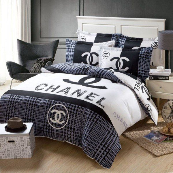 chanel bedding set 1 pepper pinterest chanel bedding bedding sets and bedrooms. Black Bedroom Furniture Sets. Home Design Ideas
