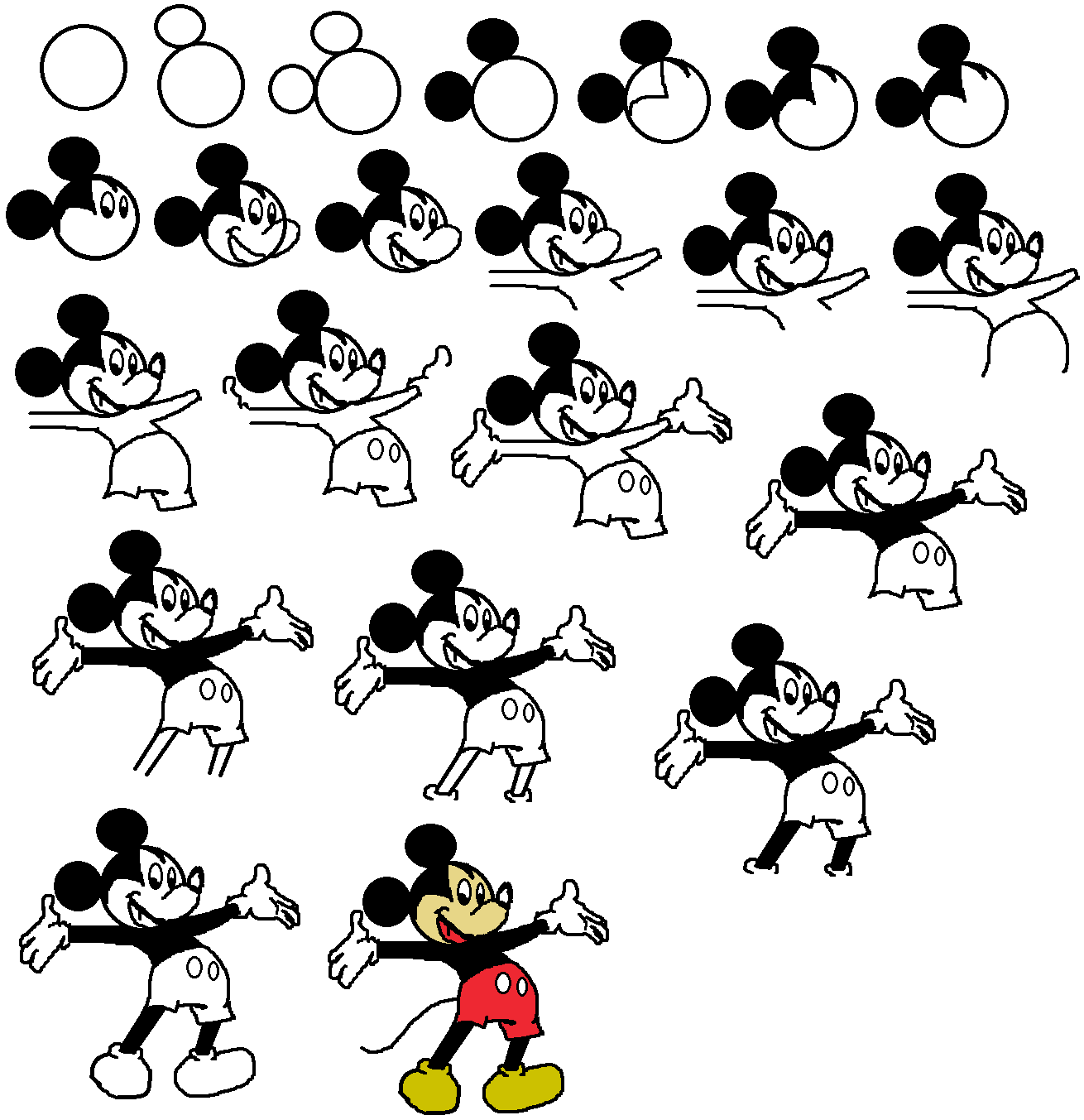 How to draw mickey mouse how to draw mickey mouse for How to draw with a mouse