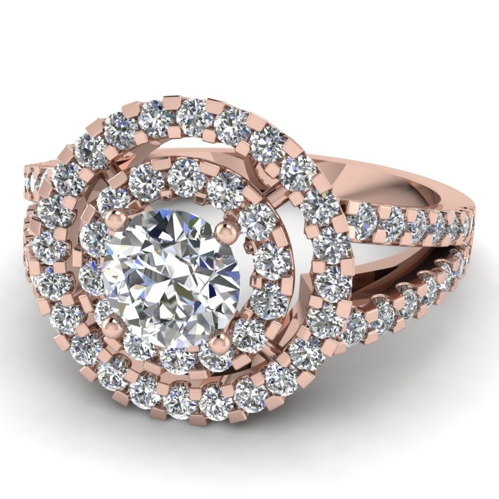 Big Round Diamond Engagement Rings Ring Pinterest Round