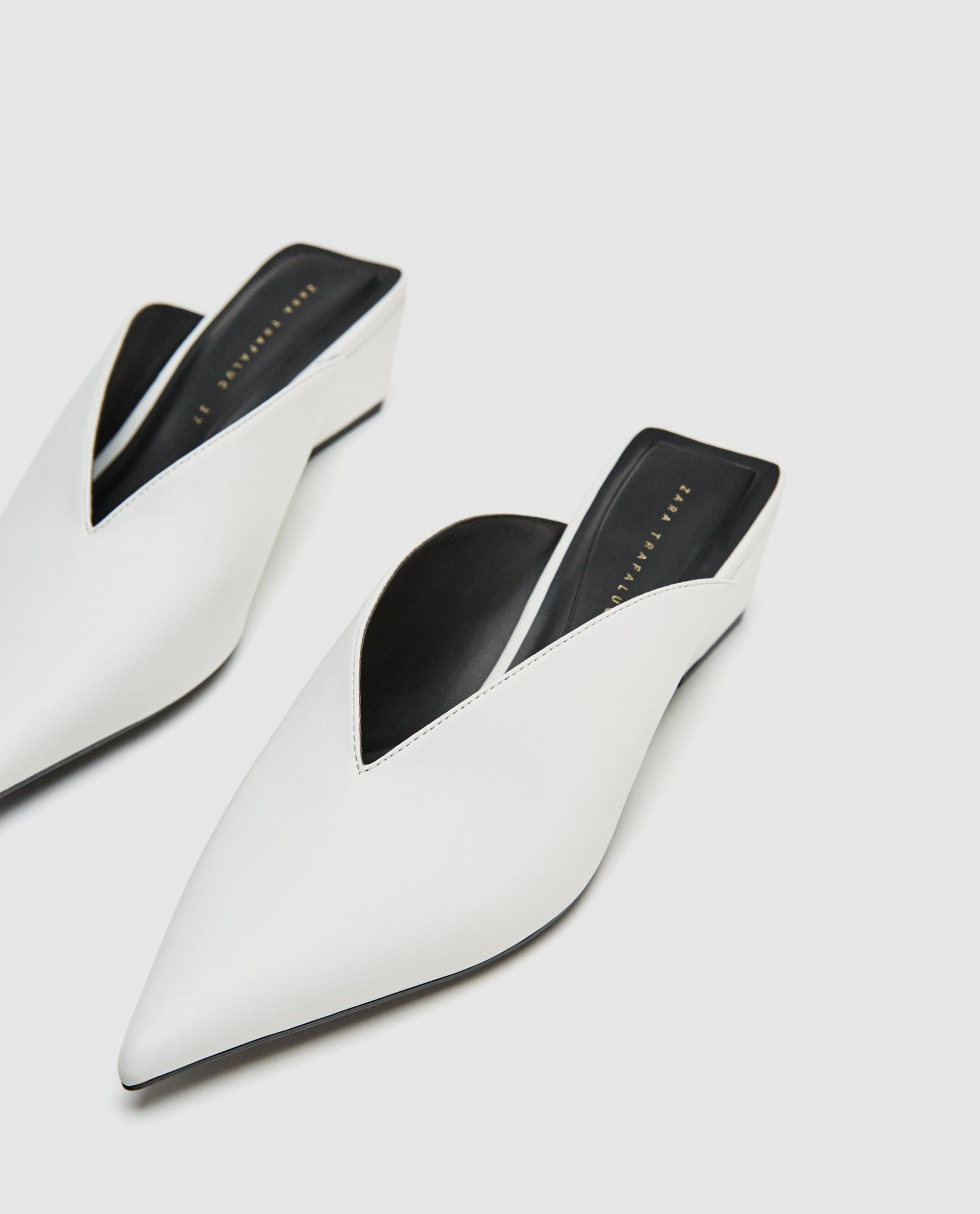 White Wedge Mules At Zara I Wanna Shoes Wedge Mules Shoe Boots