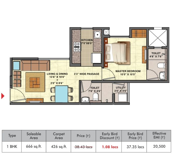 1 Bhk Flat Layout Of Palava City Codename Golden Tomorrow Floor Plans Flat Layout How To Plan