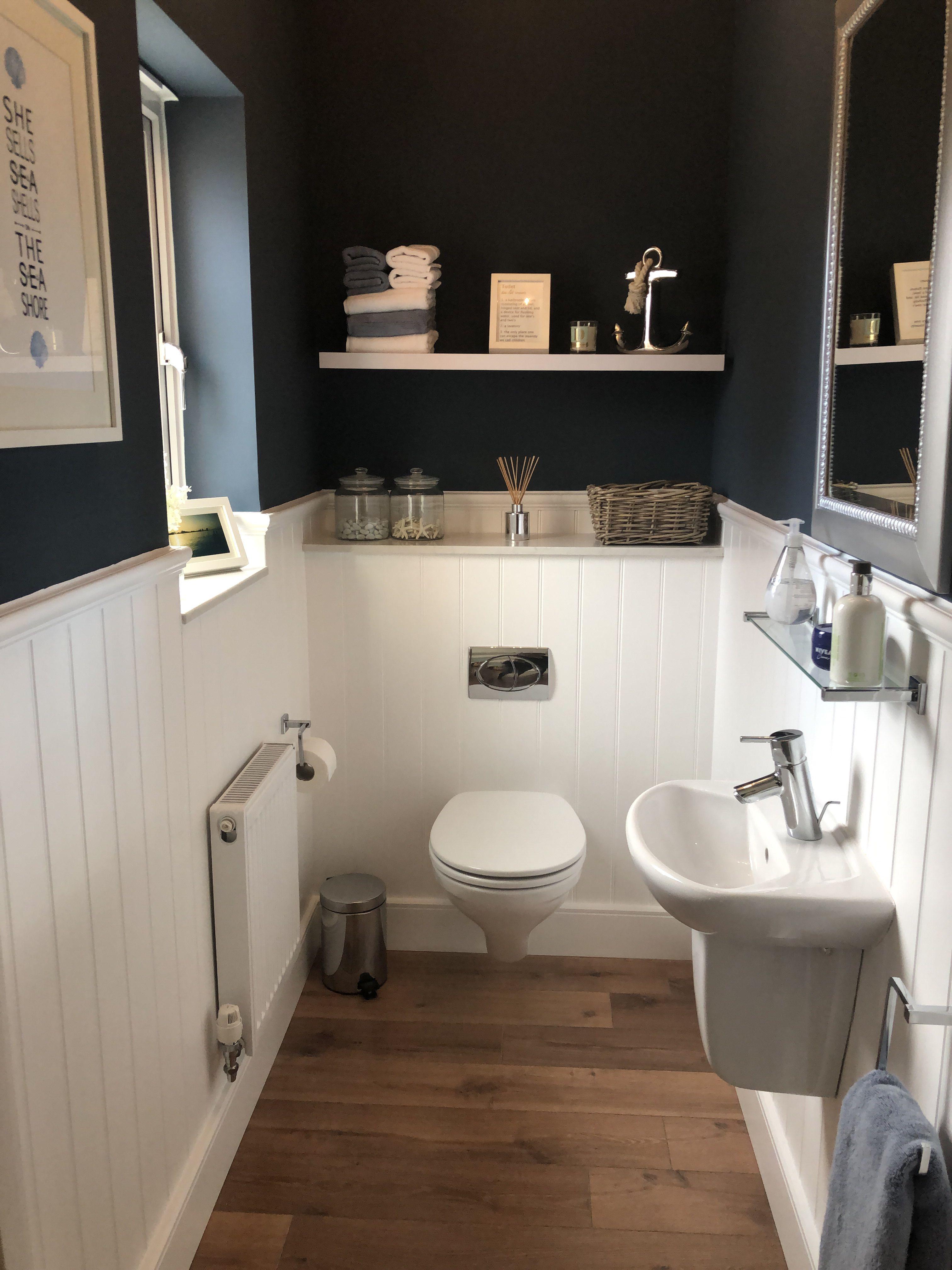 Best Farrow Ball Stiffkey Blue All White Bathroom Under 400 x 300